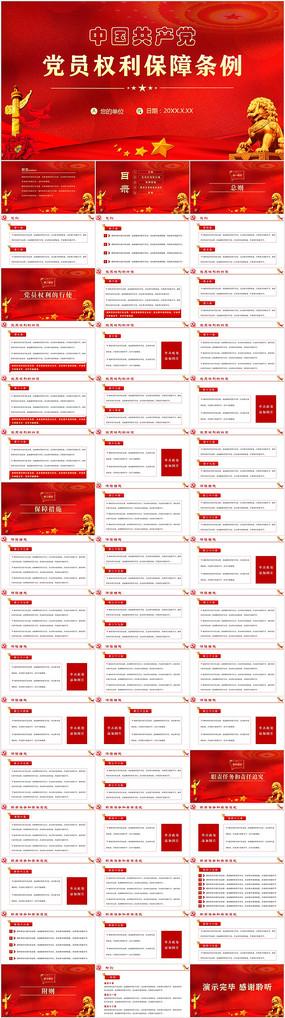 中国共产党党员权利保障条例PPT