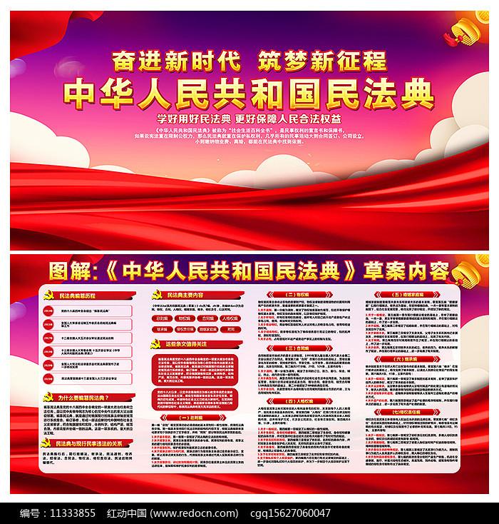 机关单位一图读懂中华人民共和国民法典展板