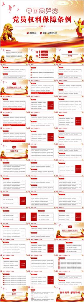 中国共产党党员权利保障条例PPT模板