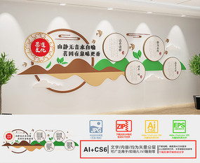 茶韵茶文化墙
