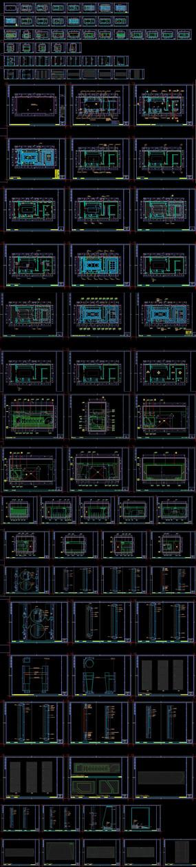 城市规划展厅CAD施工图