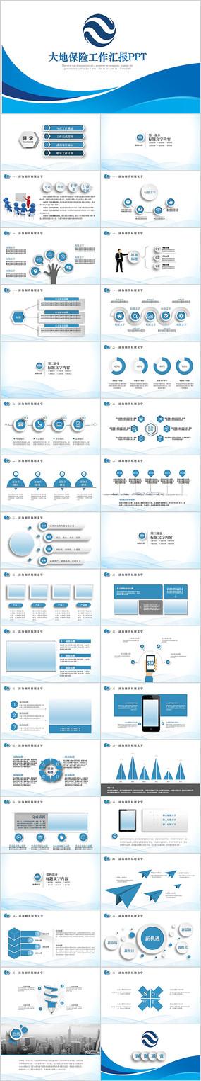 中国大地保险业务工作述职报告PPT