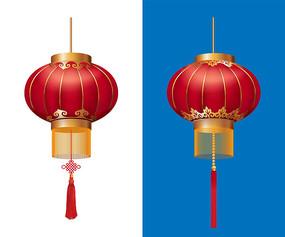 中国风春节红灯笼素材元宵节矢量灯笼
