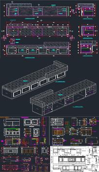 吧台接待台CAD设计
