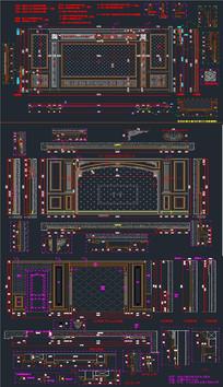 背景墙CAD图