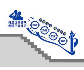 警隊文化樓梯墻設計