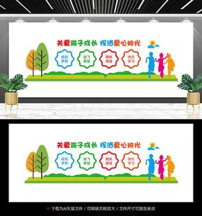 幼儿园标语宣传墙