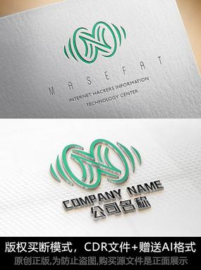 N字母logo标志字母商标设计
