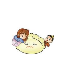 吃饺子手绘插画