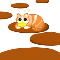 猫咪手绘插画