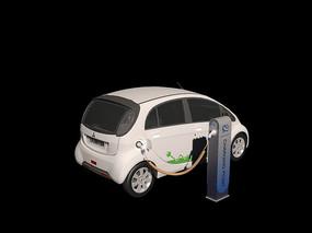 汽车充电桩3D模型