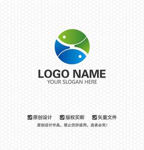 X字母双鱼太极科技商业企业LOGO设计