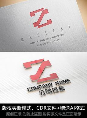 Z字母logo标志字母商标设计 CDR