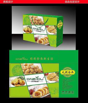 油炸类食品礼盒包装设计