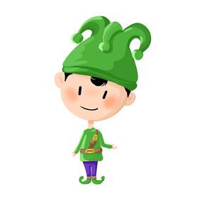 戴帽子的男孩插畫