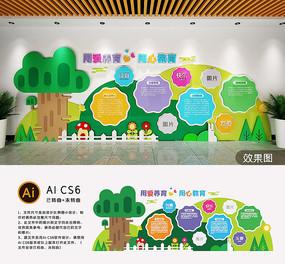 卡通多彩校园文化墙幼儿园形象墙