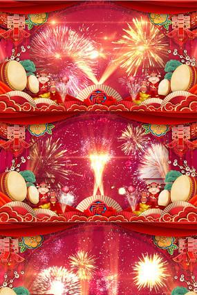 原创2021年片头春节晚会舞台LED高清背景视频素材
