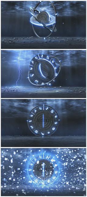 震撼闪电科技片头logo视频模板