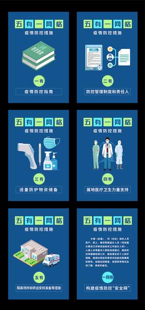 原创五有一网格疫情防控措施海报