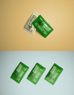 高品质的白糖咖啡伴侣包装设计VI样机