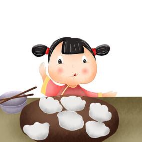 原创饺子插画