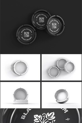 圆形烟灰缸V设计样机