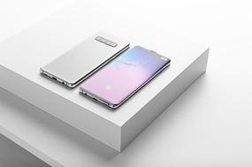翻盖弯曲折叠手机ui界面app样机模型