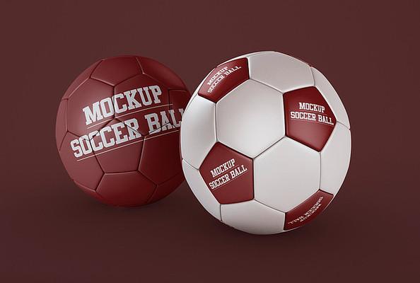 高端的足球品牌设计样机