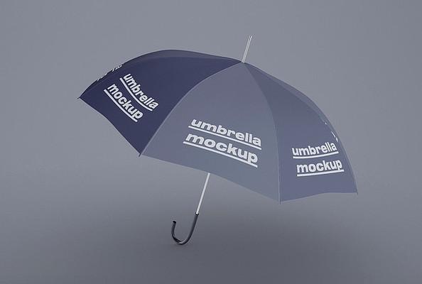 高端极简雨伞设计样机