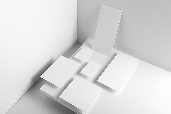 高端商务信封名片宣传单vi设计样机模板