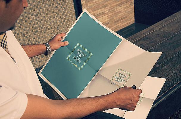 企业公司新闻报刊包装设计样机