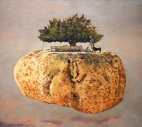 纯手绘生命之树油画