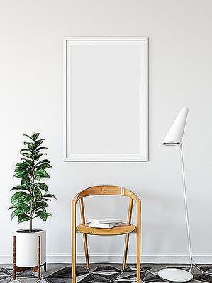 单幅装饰画木框画框贴图样机