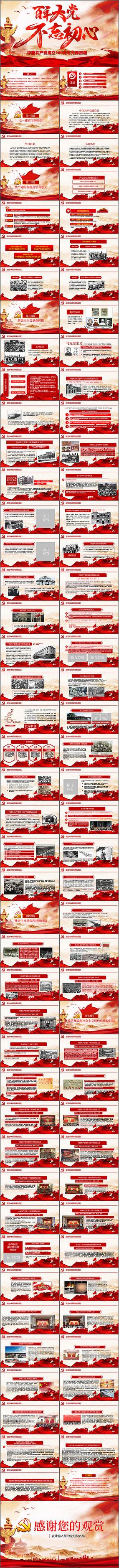 百年大党建党100周年PPT