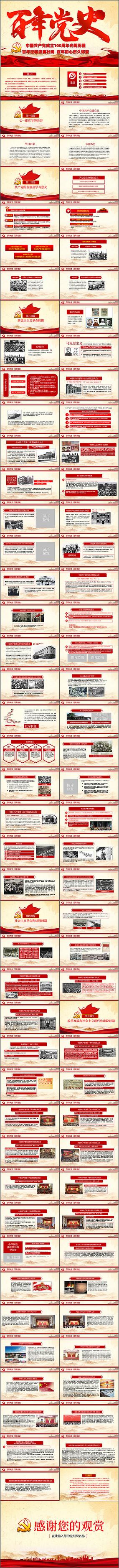百年党史建党100周年PPT