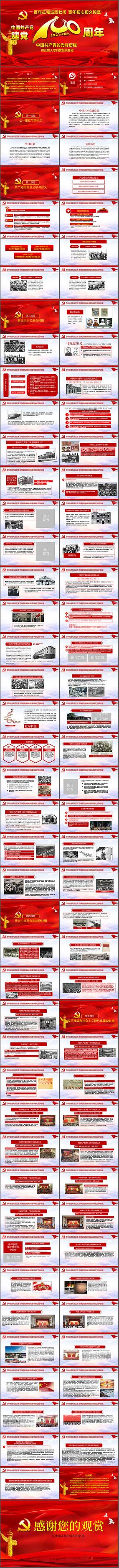 学习党史建党100周年PPT