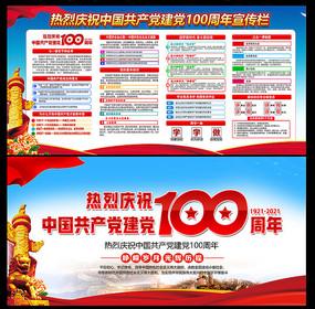 2021年中國共產黨建黨100周年展板