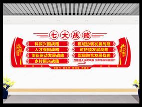 七大战略党建文化墙