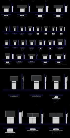 電視柜家庭影院CAD圖庫