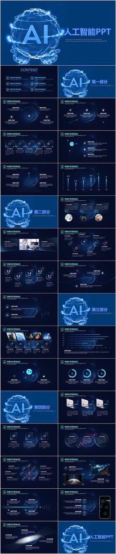 人工智能大数据PPT模板