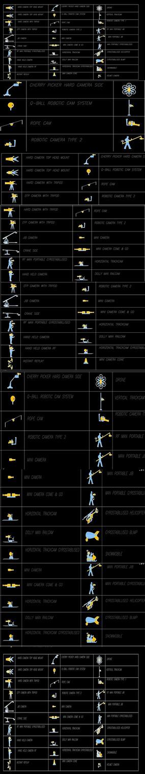 攝像機無人機CAD圖庫