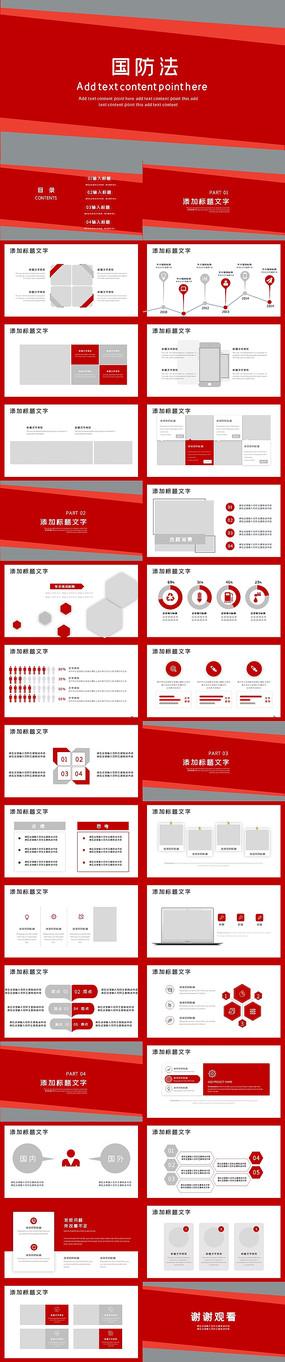 中华人民共和国国防法PPT模板