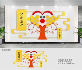 公司简介照片文化墙设计