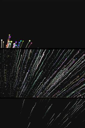 彩色粒子线条背景视频素材
