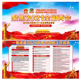 2021全国两会政府工作报告宣传栏
