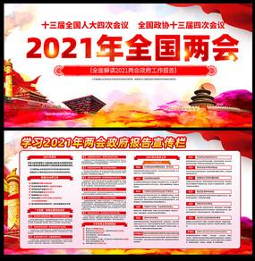 2021年全国两会政府工作报告展板