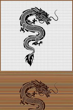 中国传统龙图腾矢量图案