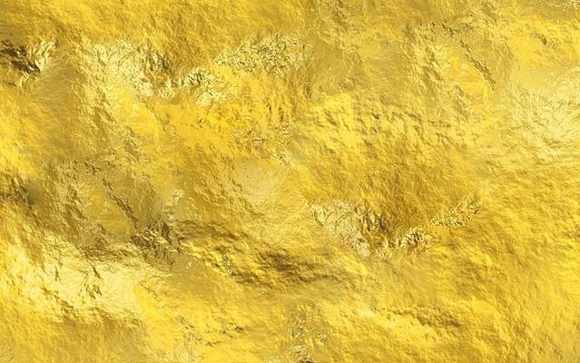 金色金属黄色渐变卡通背景