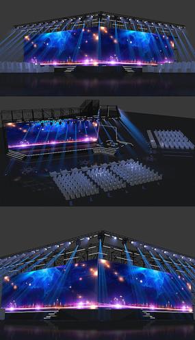 某演唱会舞台max模型
