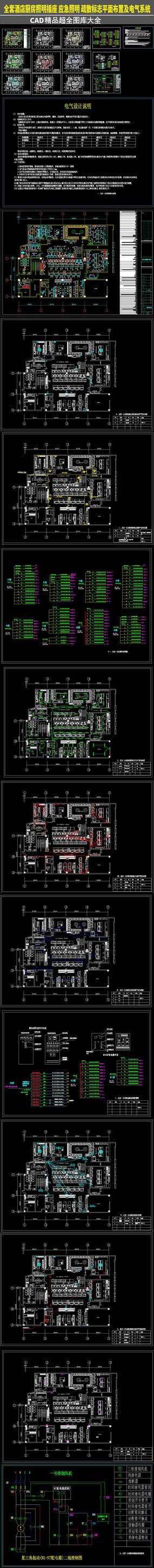 全套大型厨房平面图